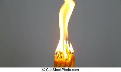 Church candles burn