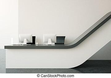 Modern reception desk - Interior with modern reception desk....