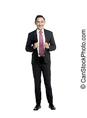 Fullbody Asian Business Man - Asian business man isolated...