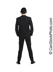Backview Fullbody Asian Business Man - Backview asian...
