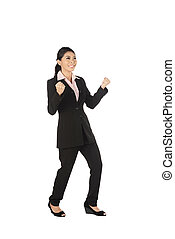 Asian Business Woman Happy - Asian business woman happy...