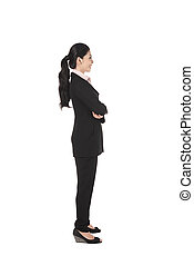 Fullbody Asian Business Woman - Sideview of asian business...