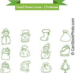 Holiday and Christmas icons set