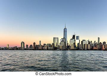New York Skyline - New York skyline as viewed across the...