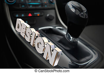 Design Car Interior Gear Shifter Drive Style 3d Illustration