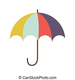 full color with umbrella opened vector illustration