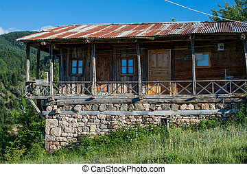 Wooden house in the country