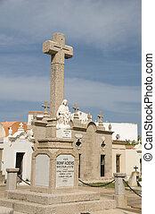 pueblo, superior, viejo, ciudad, Bonifacio, cementerio,...