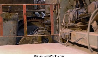 Industry. View of old operating equipment, close-up