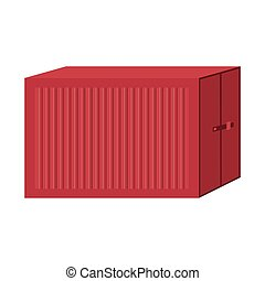 cargo container for freight shipping vector illustration