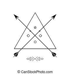 Vector illustration with ethnic arrows.