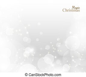 Christmas lights background. Vector design concept