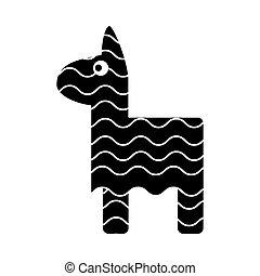 Isolated mexican pinata design icon - Pinata icon. Mexican...