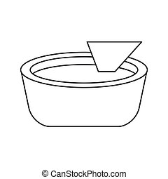 Isolated mexican nacho design - Nacho food icon. Mexican...