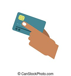 Isolated credit card desgin