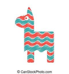 Isolated mexican pinata design - Pinata icon. Mexican...