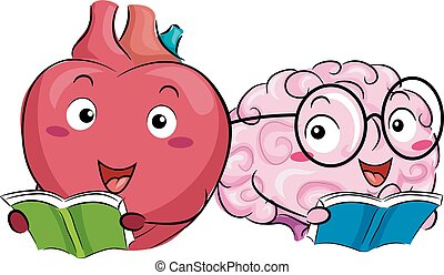 Mascot Heart Brain Anatomy Book