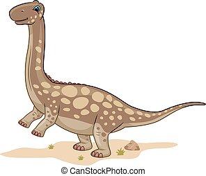 Dino Argentinosaurus Desert - Animal Illustration Featuring...