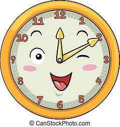 Mascot Clock Ten After Twelve