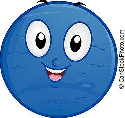 Mascot Planet Neptune - Illustration of a Neptune Mascot...