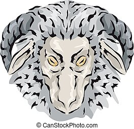 Wooly Gray Lamb Icon - Animal Illustration Featuring a...