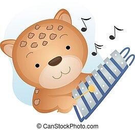 Mascot Music Cheetah Xylophone