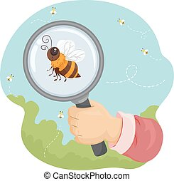 Bee Hand Magnifying Glass