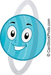 Mascot Planet Uranus - Illustration of a Uranus Mascot...