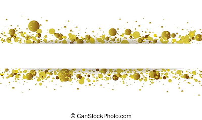 Golden glitter round particles video animation