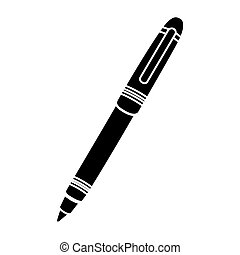 black silhouette pen with point ball