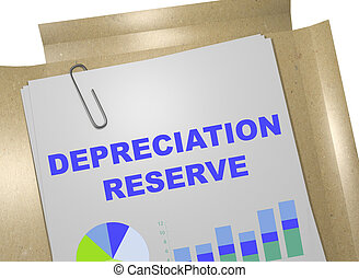 Depreciation Reserve concept - 3D illustration of...