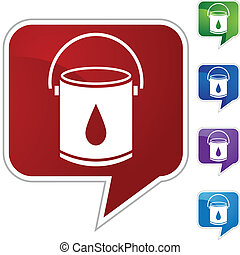 Paint Bucket web button isolated on a background
