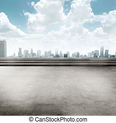 Jakarta city background square. You can put your design here