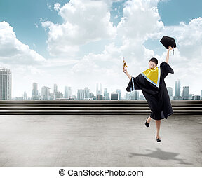 Asian Woman Graduation
