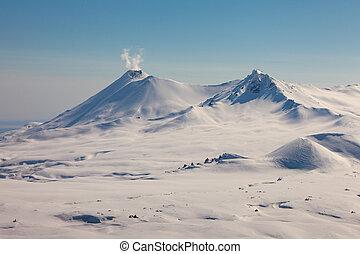 Volcanoes of Kamchatka - Volcano Kikhpinych of Kamchatka in...