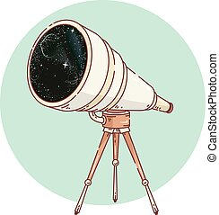 Telescope Outer Space Icon