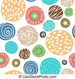 Cute children background with polka dots