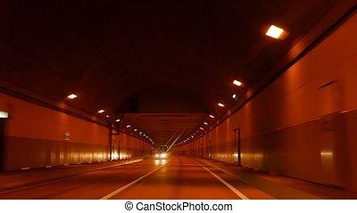 In the tunnel. Sochi, Russia