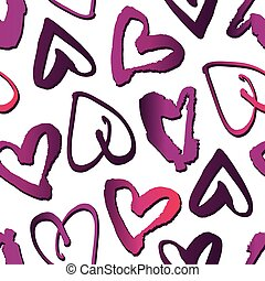 Vector seamless pattern with hearts. Abstract background for Valentine's Day.