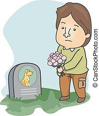 Man Visit Dead Pet Dog