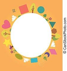 Nature Shapes Circular Board