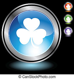 Clover web button isolated on a background