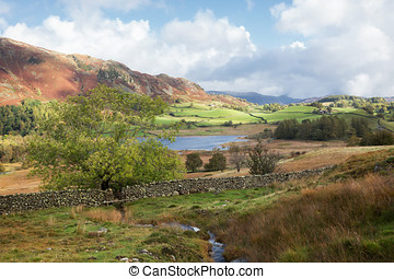 Little Langdale Tarn in The English Lakes - Rural landscape...