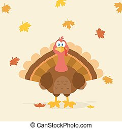 Thanksgiving Turkey Bird Cartoon Mascot Character