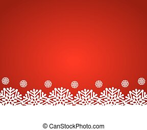 Christmas red background with snowflakes, vector...