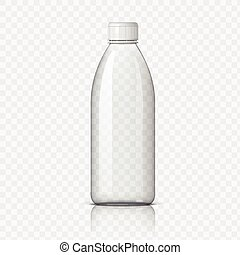 Realistic plastic bottle for water. - Realistic plastic...
