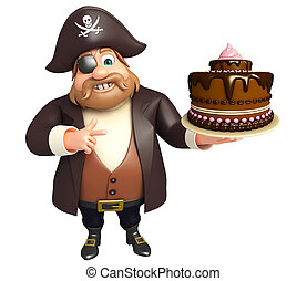 Pirate with Cake