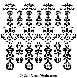 Vintage pattern background. Vector floral antique decor...