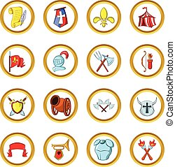 The middle ages vector set, cartoon style - The middle ages...
