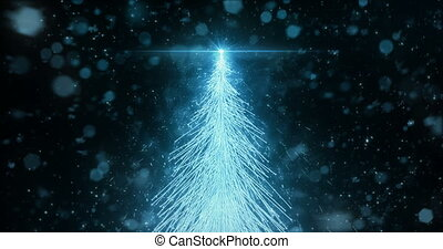 Animated Christmas Fir Tree Star background seamless loop in 4k resolution.